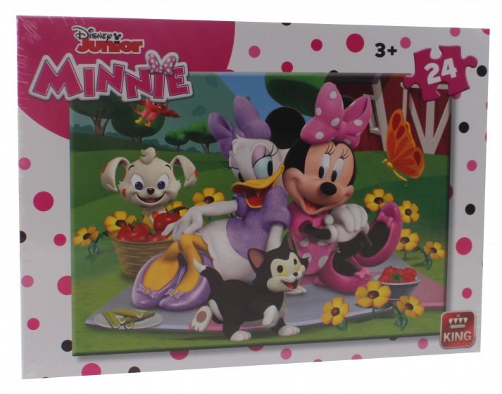 King legpuzzel Minnie Mouse 24 stukjes