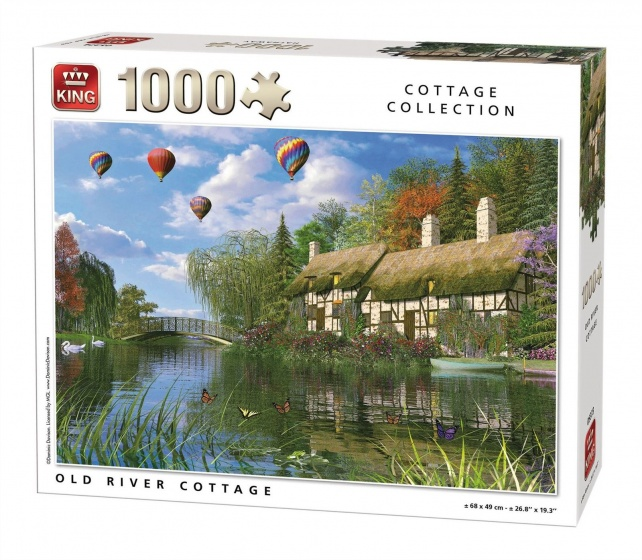 King legpuzzel Old River Cottage 1000 stukjes