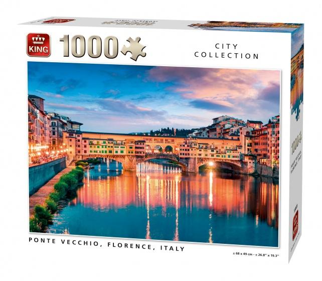 King Legpuzzel Ponte Vecchio Florence 1000 stukjes