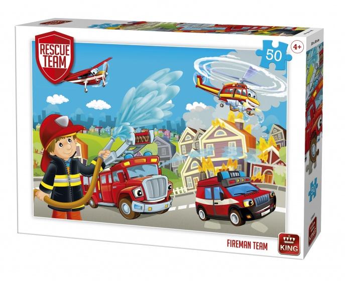 King legpuzzel Rescue Team Fireman Team 50 stukjes