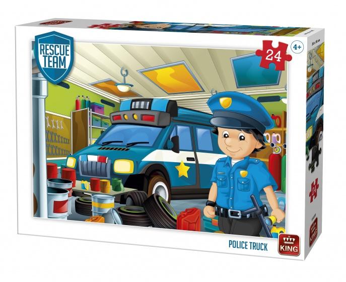 King legpuzzel Rescue Team Police Truck 24 stukjes
