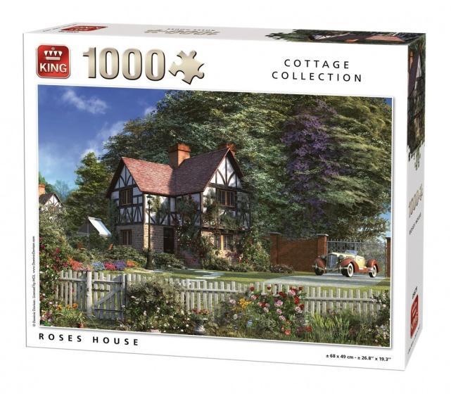 King legpuzzel Roses House 1000 stukjes