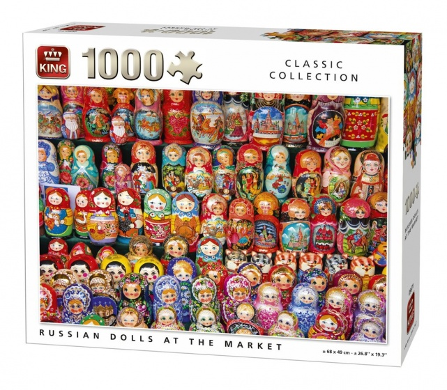 King legpuzzel Russian Dolls At The Market 1000 stukjes