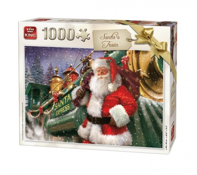 King legpuzzel Santa Train 1000 Stukjes