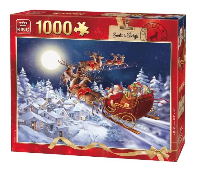 King legpuzzel Santa's Sleigh 1000 stukjes