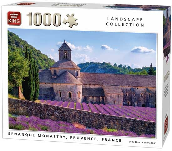 King legpuzzel Senanque Monastry, Provence 1000 stukjes