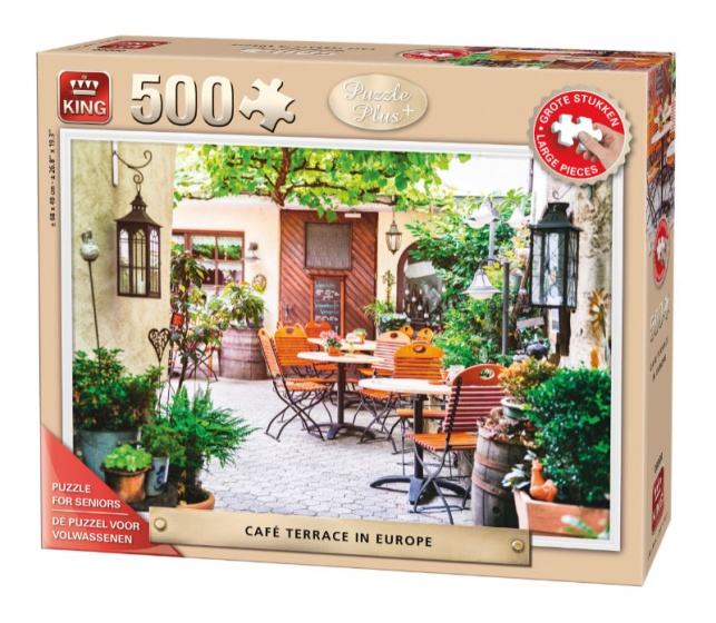 King legpuzzel senioren Cafe Terrace in Europe 500 stukjes