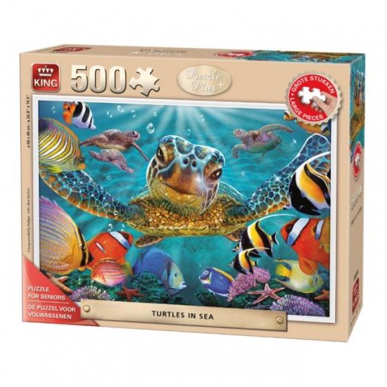 King legpuzzel senioren Turtles in The Sea 500 stukjes