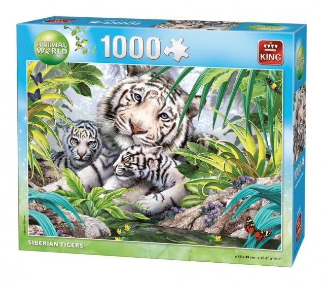 King legpuzzel Siberian Tiger 1000 stukjes