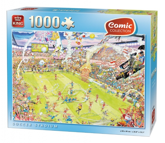 King legpuzzel Soccer Stadium 1000 stukjes
