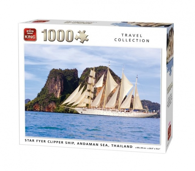 King legpuzzel Star Fyer Clipper Ship 1000 Stukjes