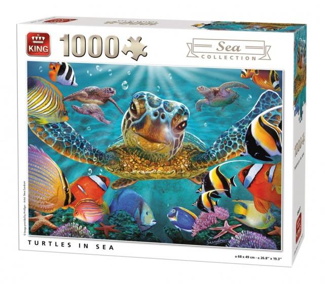 King legpuzzel Turtles in Sea 1000 stukjes