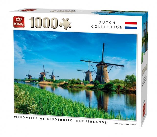 King Legpuzzel Windmolens Kinderdijk 1000 Stukjes