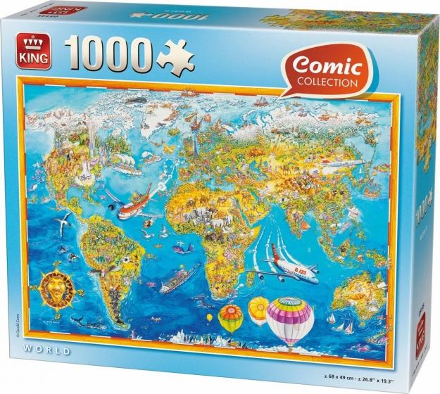 King legpuzzel World 1000 stukjes