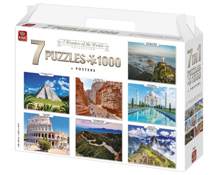 King legpuzzels 7 in 1 Wonders of the World 1000 stukjes