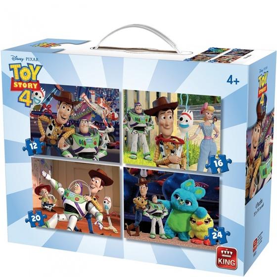 King puzzelbox Disney 4 in 1 Toy Story IV legpuzzels