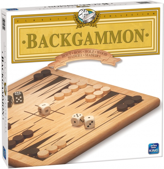 King strategiespel backgammon hout