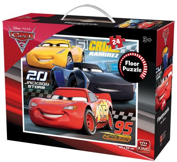 King vloerpuzzel Cars 3 24 stukjes