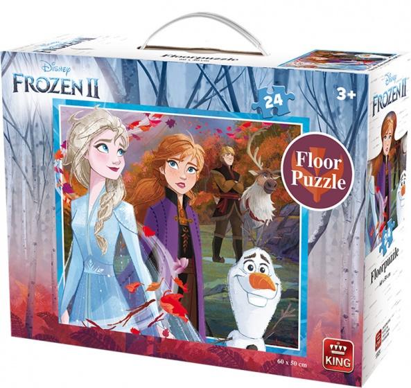 King vloerpuzzel Disney Frozen II junior 60 x 50 cm 24 stukjes kopen