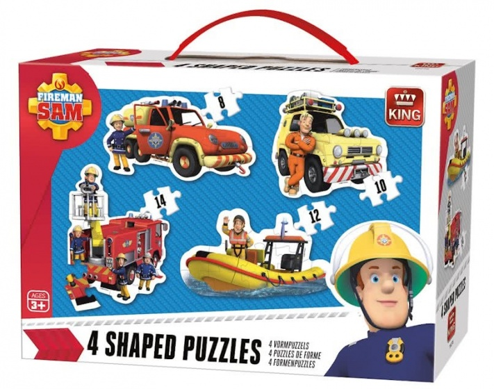 King vormenpuzzels 4 in 1 Brandweerman Sam 8 14 stukjes