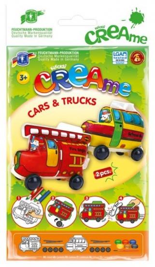 Feuchtmann Klecksi CREAme Cars & Trucks: Brandweer en Schoolbus