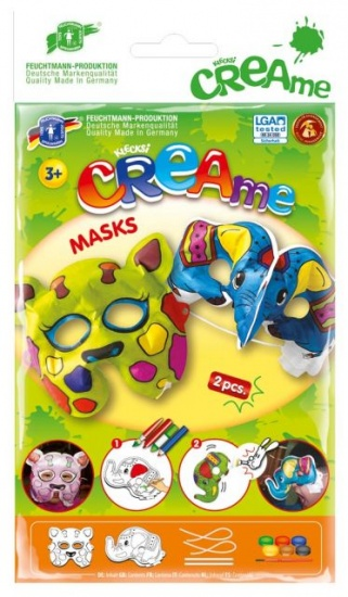 Feuchtmann Klecksi CREAme Masks: Giraffe en Olifant