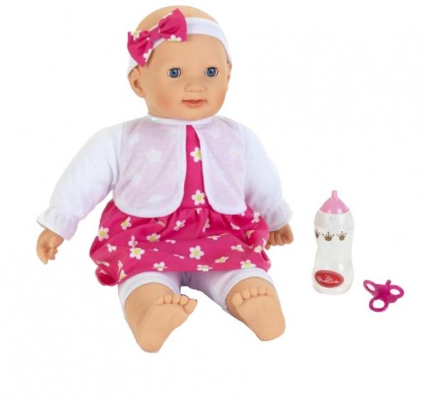 Klein babypop Princess Coralie 46 cm roze/wit