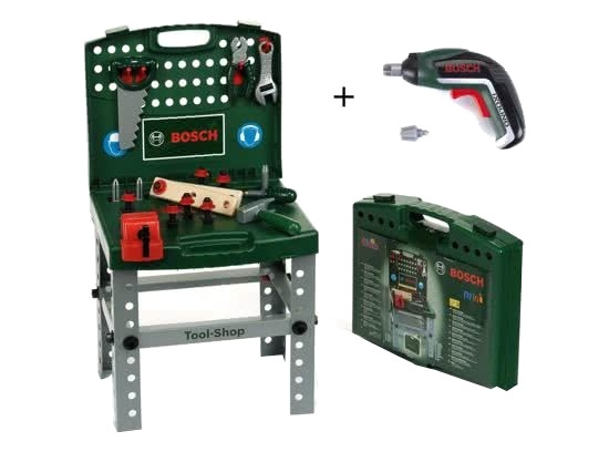 klein bosch werkbank met accessoires ixolino ii 34 delig internet toys. Black Bedroom Furniture Sets. Home Design Ideas