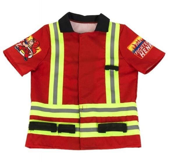 Klein brandweerjas junior rood 3 6 jaar