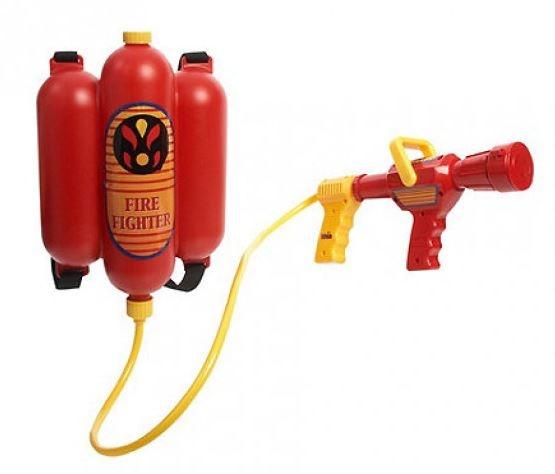 Klein brandweerspuit waterpistool
