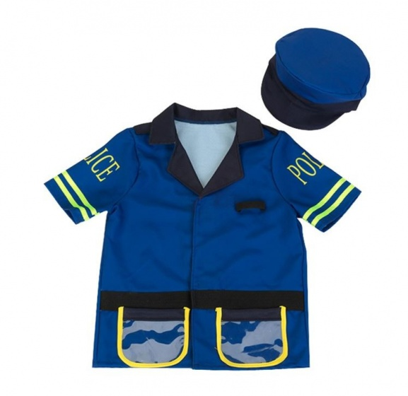 Klein politiejas en pet junior blauw 3 6 jaar