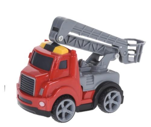 Free and Easy ladderwagen 11 cm rood
