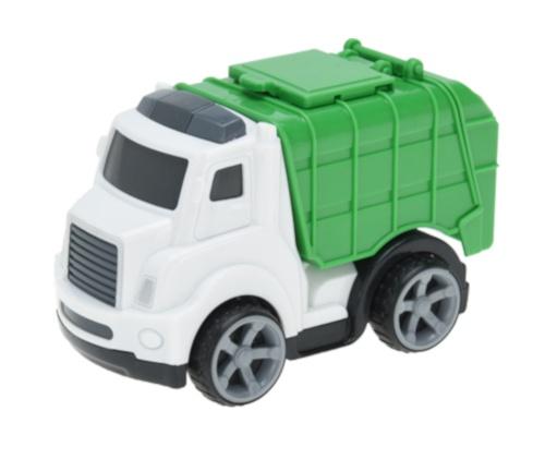 Free and Easy vuilniswagen 11 cm wit/groen