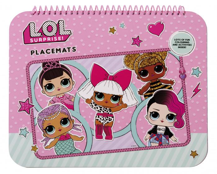 L.O.L. Surprise placemats kleurplaten roze 30 stuks