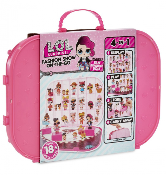 L.O.L. Surprise! carrying case bright pink