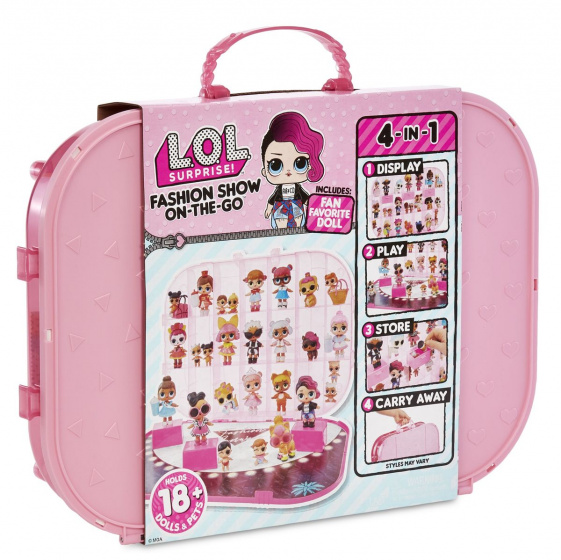 L.O.L. Surprise! carrying case light pink