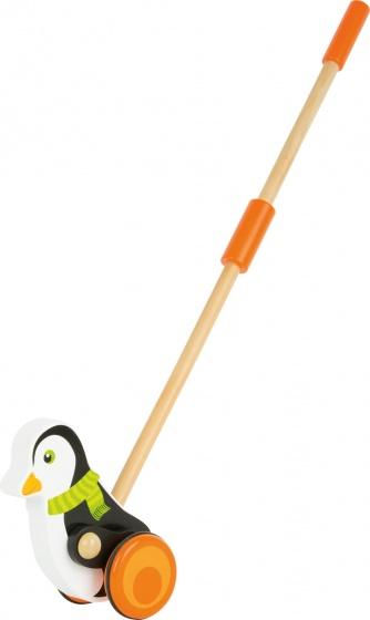 Legler houten duwfiguur pinguin 58 cm zwart/wit