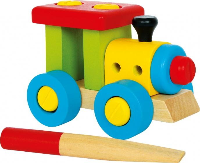 Legler trein multicolor 12 cm