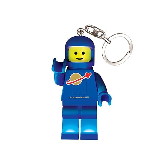 LEGO astronaut sleutelhanger blauw 7 cm
