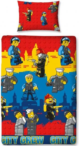 LEGO City Crew dekbedovertrek 140 x 200 cm