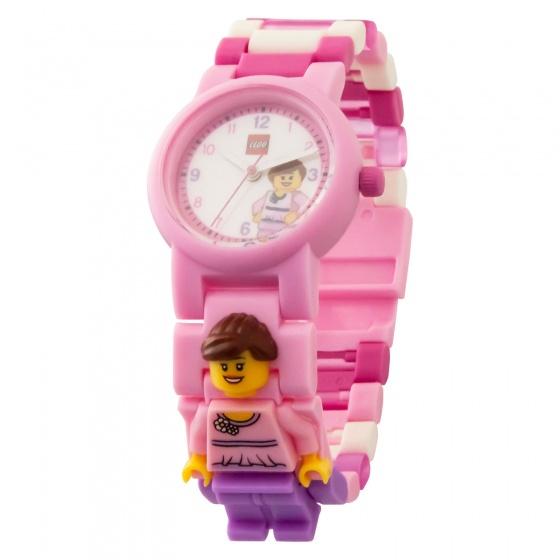LEGO Classic: horloge met figuurtje roze