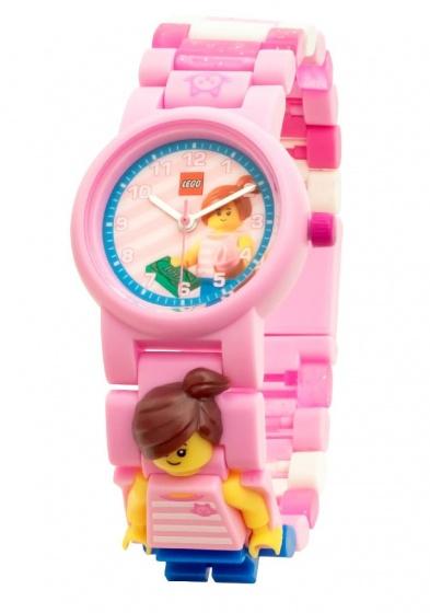 LEGO Classic: horloge met figuurtje roze 24 delig kopen