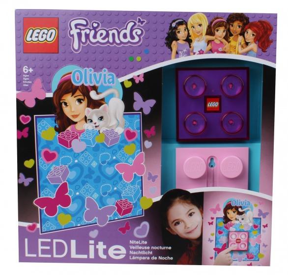 LEGO Friends: nachtlamp Olivia 9 cm paars/roze