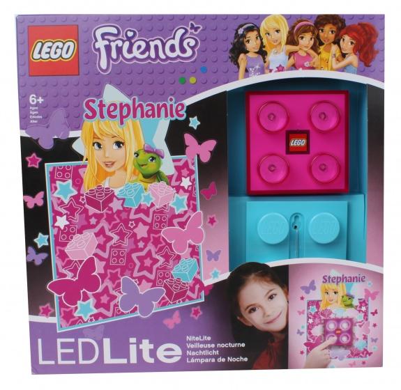LEGO Friends: nachtlamp Stephanie 9 cm roze/blauw