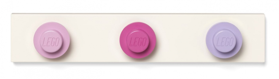 LEGO kapstok 33 x 6,5 cm polypropeen roze/lila/wit