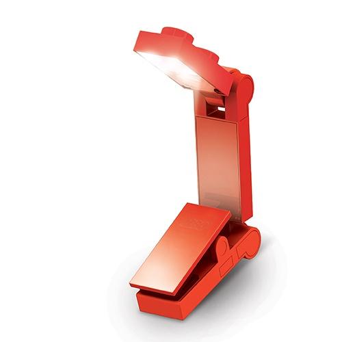 LEGO LED leeslamp rood 13 cm