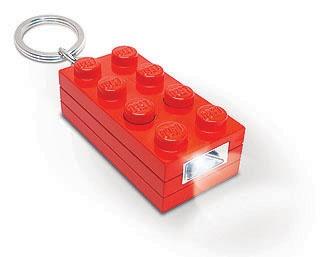 LEGO LED sleutelhanger bouwblok rood