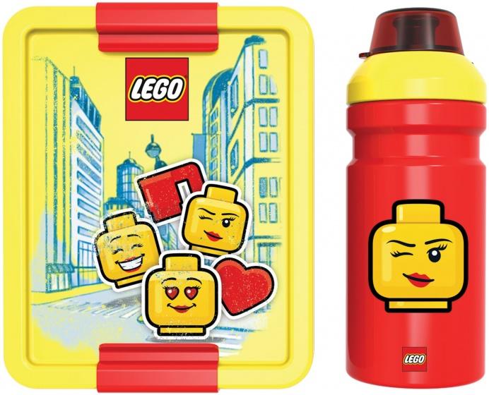 LEGO lunchset Iconic 2 delig geel/rood