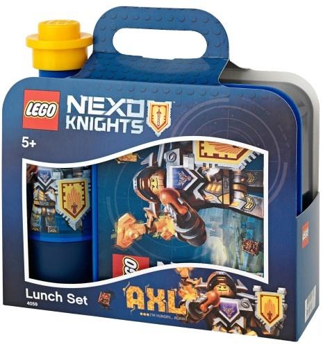 Lego Lunchset Nexo Knights drinkbeker en trommel blauw-geel
