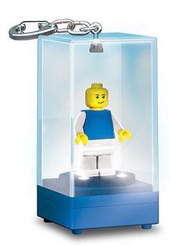 LEGO minifiguur sleutelhanger display case blauw